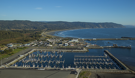 Crescent City Harbor Marina with docks by Bellingham Marine