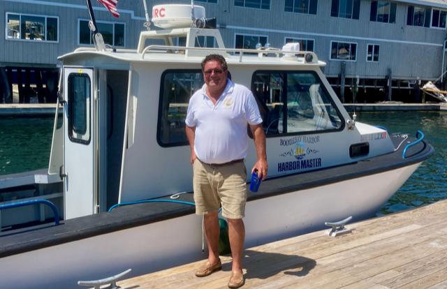 Jeffrey Lowell, Harbormaster in Boothbay, Maine
